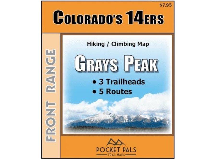 Pocket Pals Maps Grays Peak Trail Map
