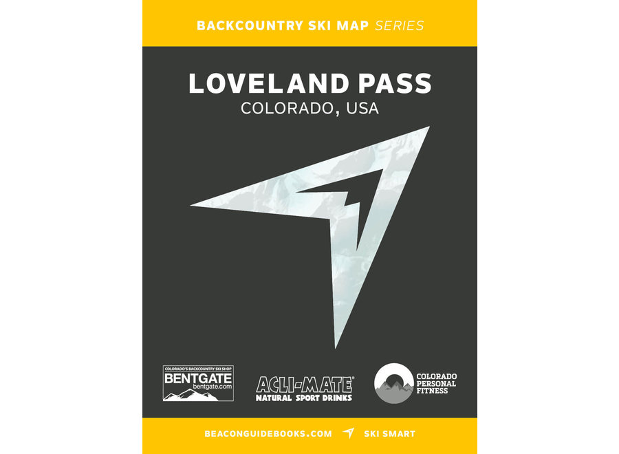 Beacon Guidebooks Loveland Pass Backcountry Skiing Map