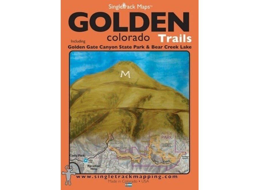 Singletrack Maps Golden, Colorado Trail Map