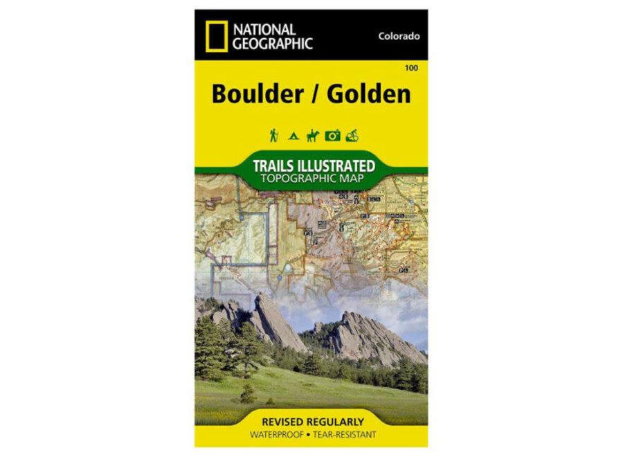 Trails Illustrated 100 Boulder, Golden