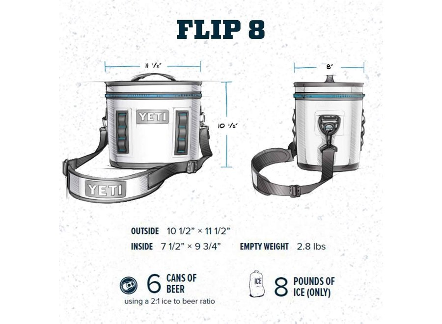 Yeti Hopper Flip 8 Cooler Gray