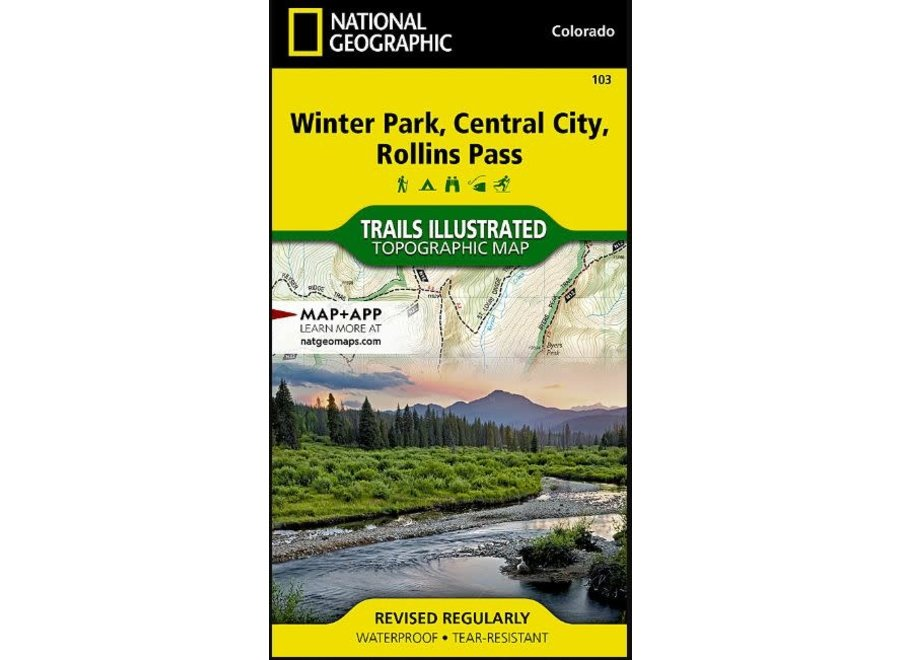 Trails Illustrated 103 Winter Park, Central City, Rollins Pass