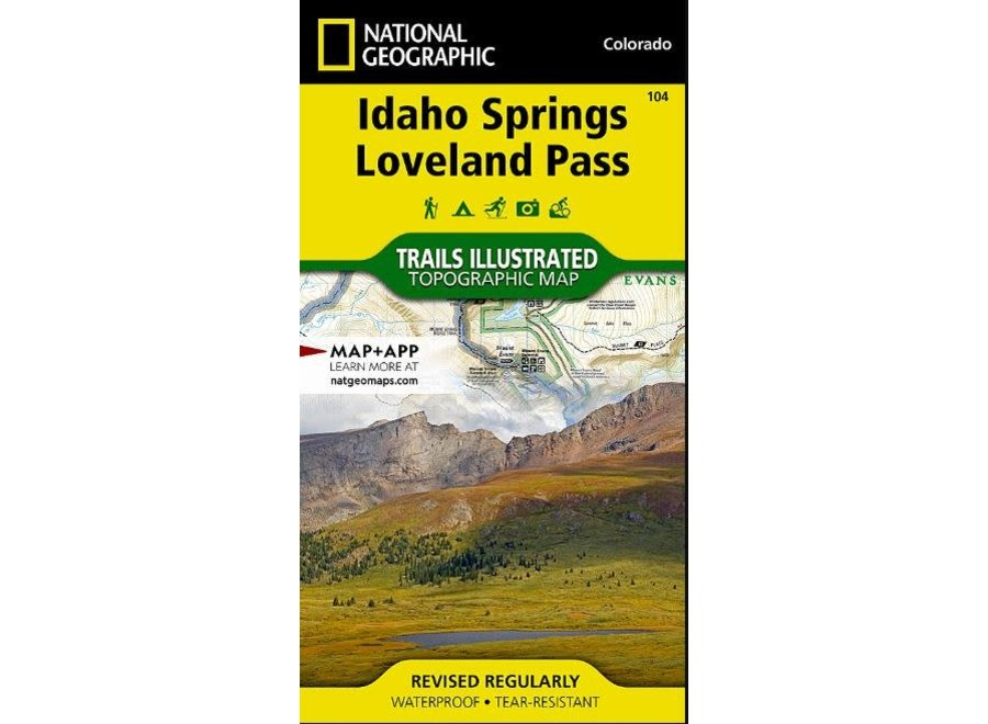 Trails Illustrated 104 Idaho Springs, Loveland Pass