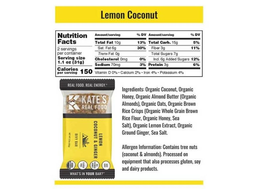 Bivy Bar Lemon Coconut