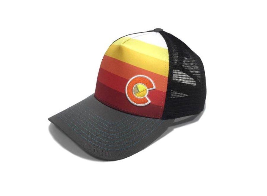 Yo Colorado Sunset Fader Trucker Hat