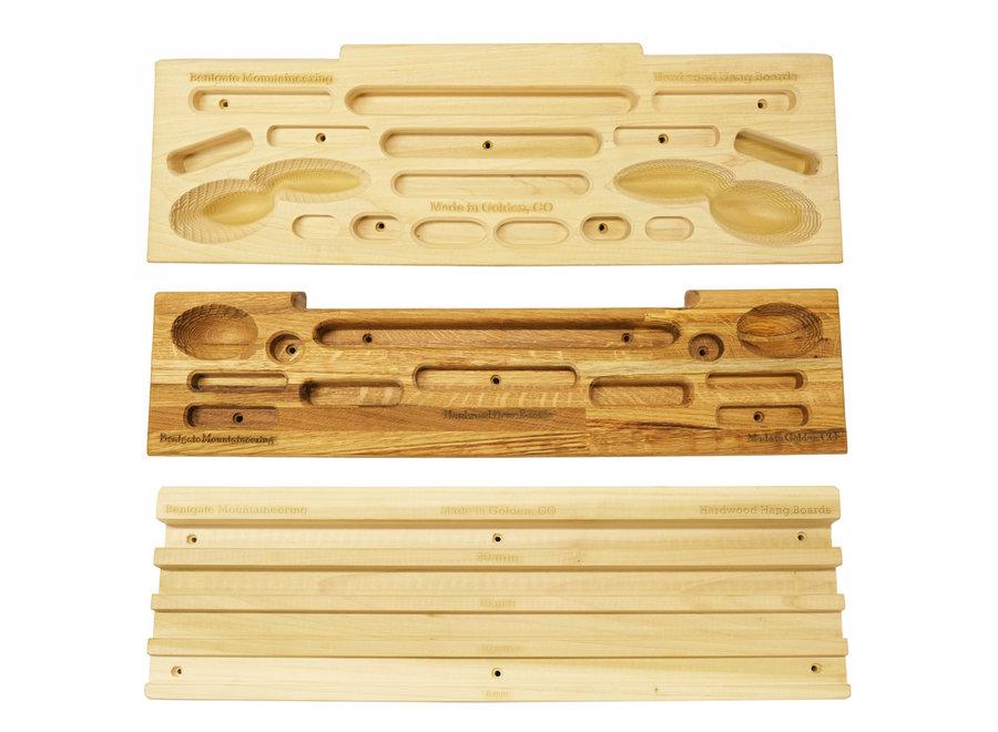 Hardwood Hangboards Oak Butcher Block Hangboard