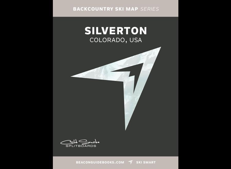 Beacon Guidebooks Silverton Colorado Backcountry Skiing Map