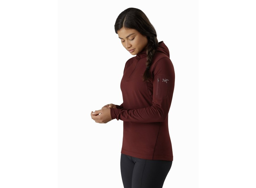 Arc'teryx Women's  Rho LT Hooded Zip Neck Clearance