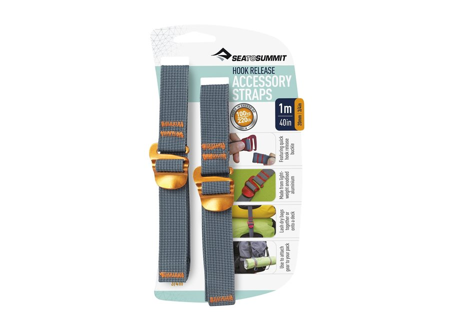 "Sea to Summit Accessory Straps With Hook Release 3/4"" x"