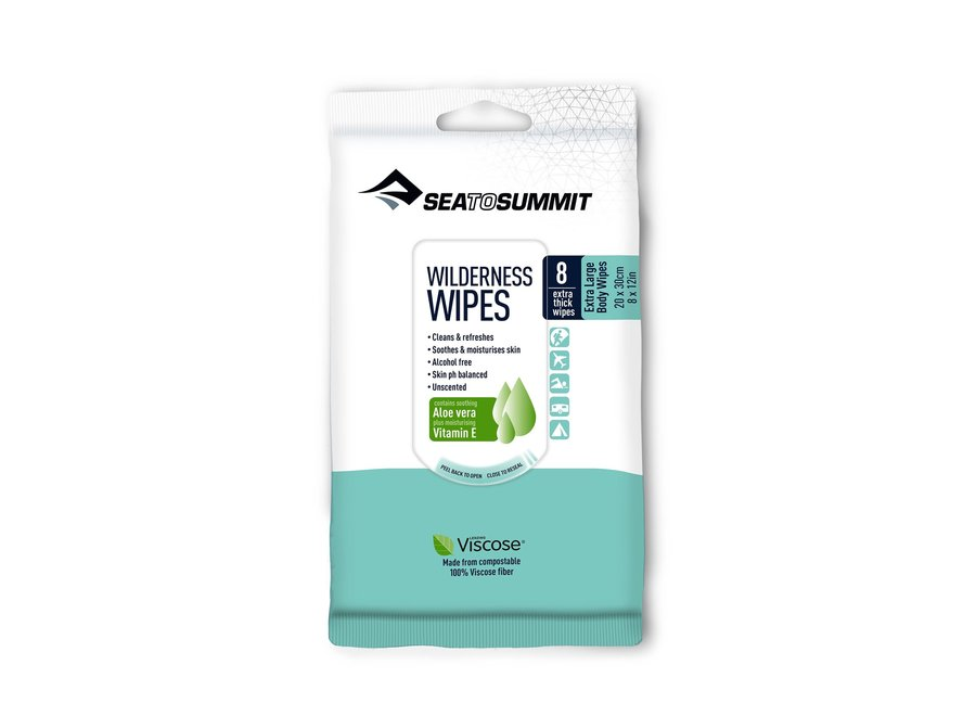 Sea to Summit Trek and Travel Wilderness Wipes XL 8 Pack