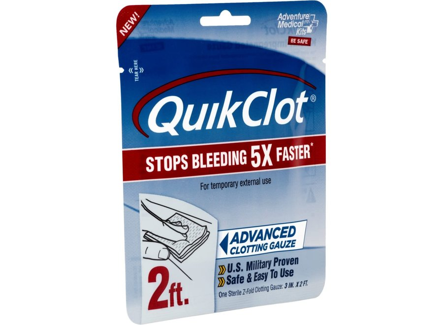 """Adventure Medical Kits QuikClot Gauze 3"""" x 2"""""""
