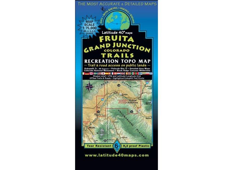 Latitude 40 Fruita Grand Junction Trails Map 6th Edition