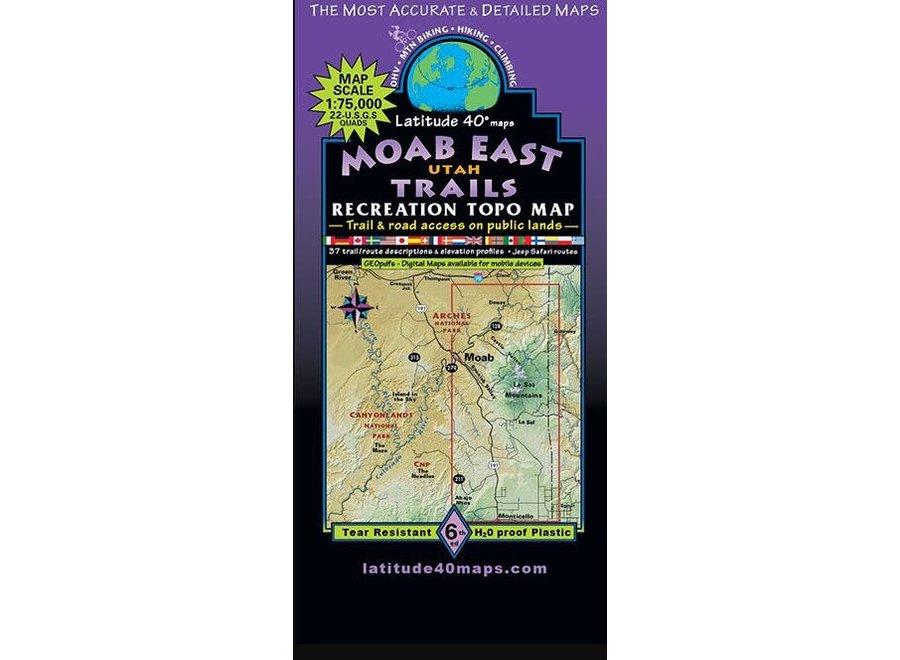 Latitude 40 Moab East Trails 6th Edition