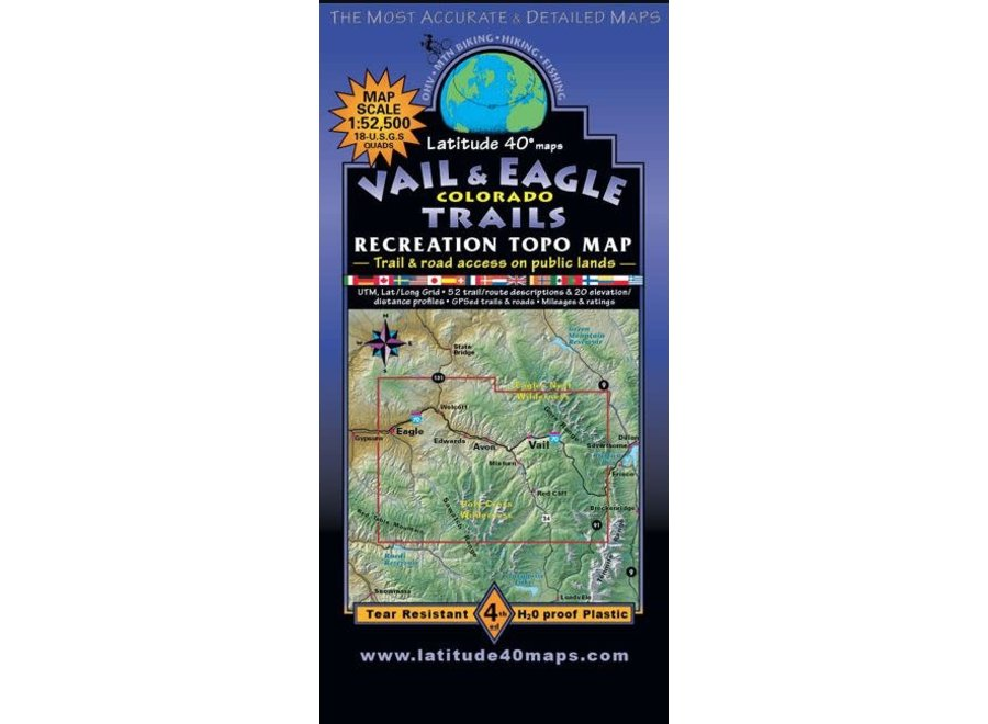 Latitude 40 Vail and Eagle Trails 4th Edition