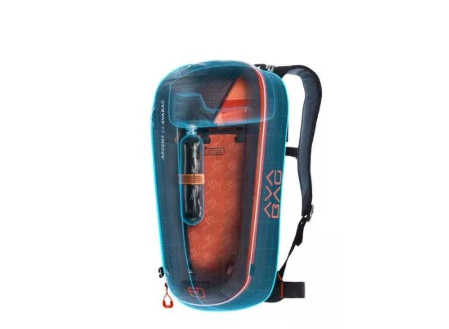 Ortovox Ascent 28 S Avabag Airbag Kit Green Isar