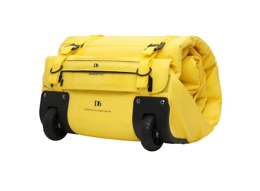 db The Douchebag Wheeled Ski Bag Double Brightside Yellow Limited Edition