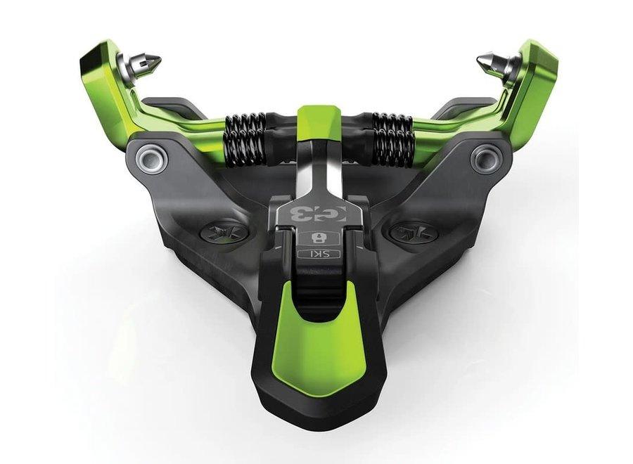 G3 ZED 9 Bindings (No Brakes) 21/22 Green