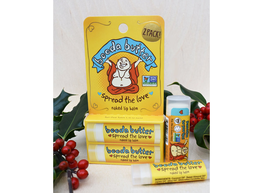 Booda Butter Naked Lip Balm 2 Pack