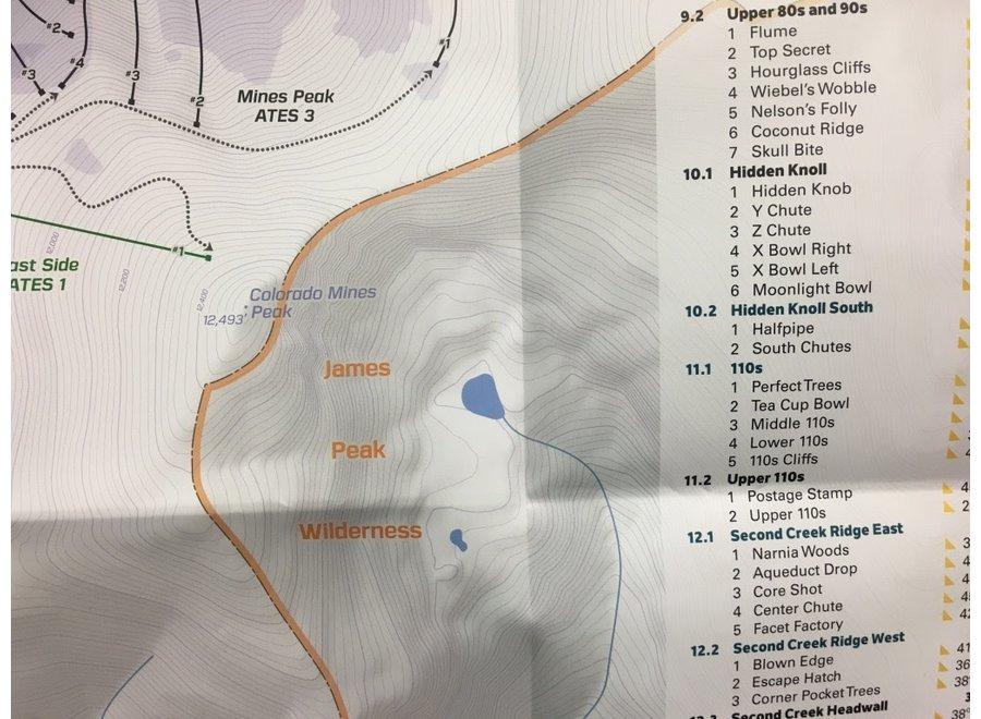 Beacon Guidebooks Berthoud Pass Backcountry Skiing Map