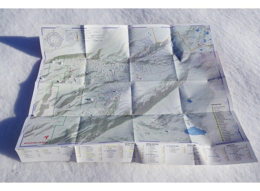 Beacon Guidebooks Buffalo Pass Backcountry Skiing Map