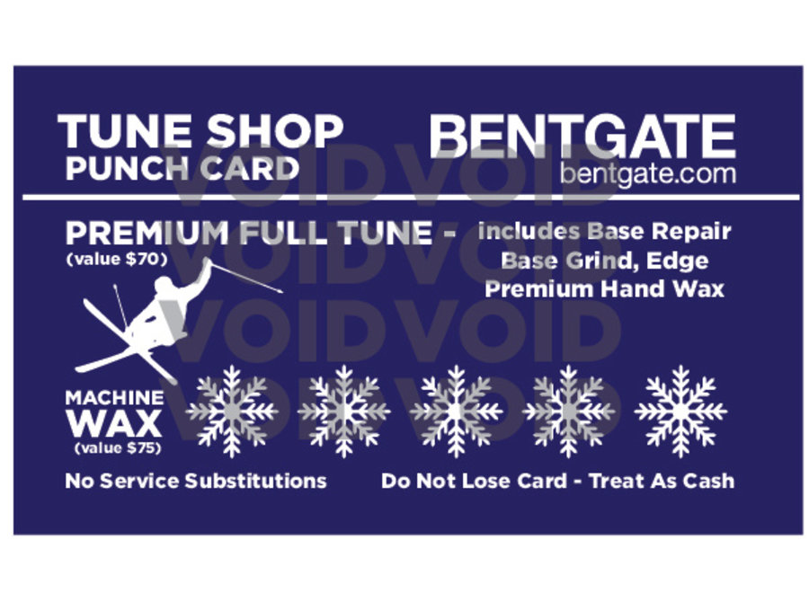 SERVICE Tune Shop Punch Card