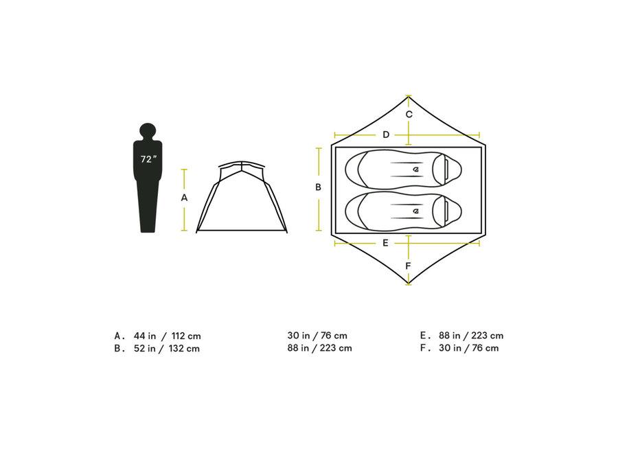 NEMO Equipment Aurora 2P  & Footprint