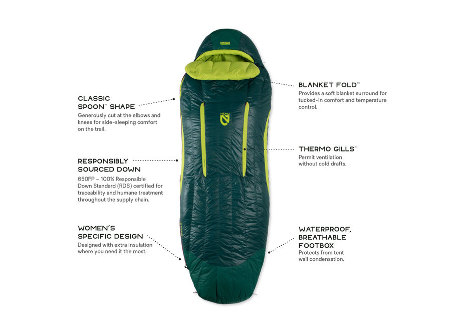NEMO Equipment Disco Women's 15 Sleeping Bag