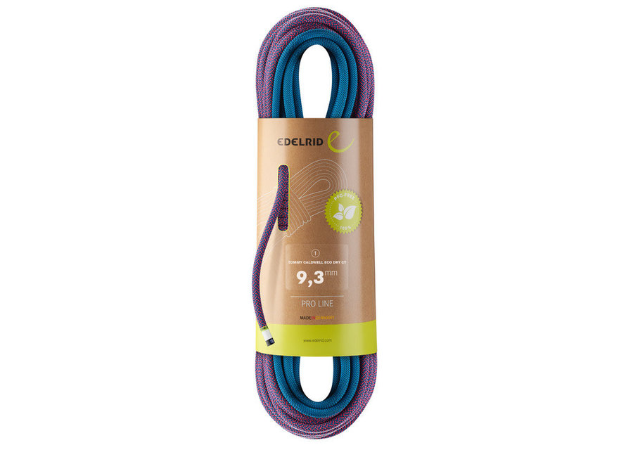 Edelrid Tommy Caldwell Eco Dry ColorTec 9.3mm x 80M rope