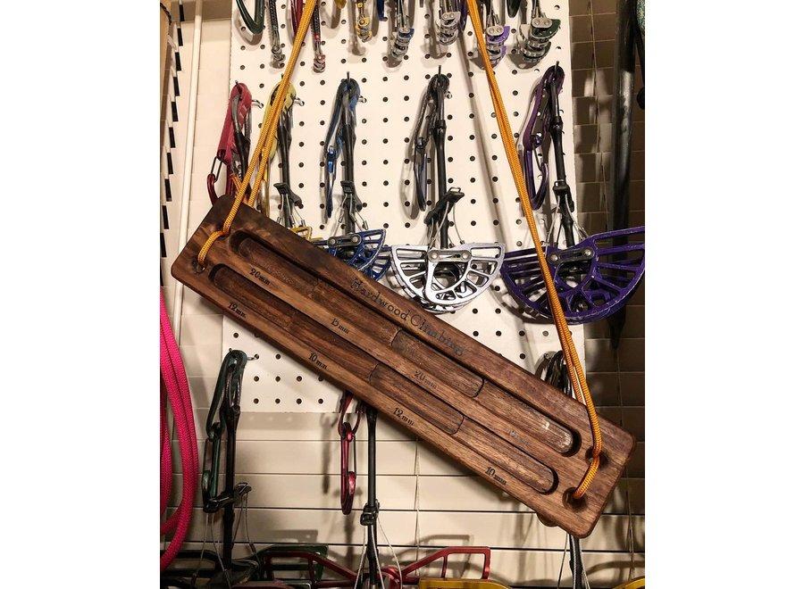 Hardwood Hangboards Walnut Crag Board #2