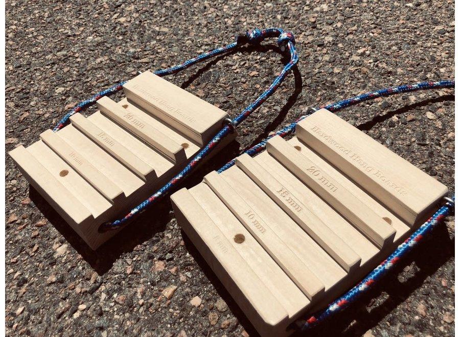 Hardwood Hangboards Travel Set