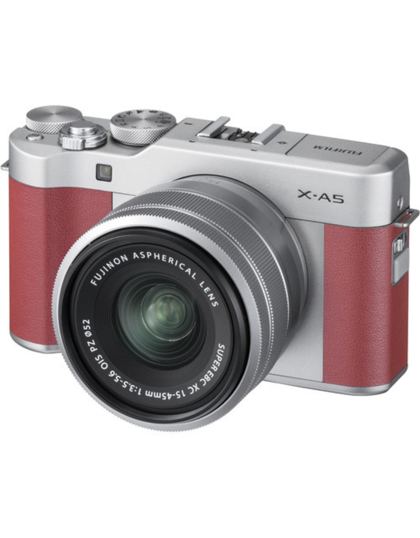 Fuji FUJIFILM X-A5 Mirrorless Digital Camera with 15-45mm Lens (Pink)