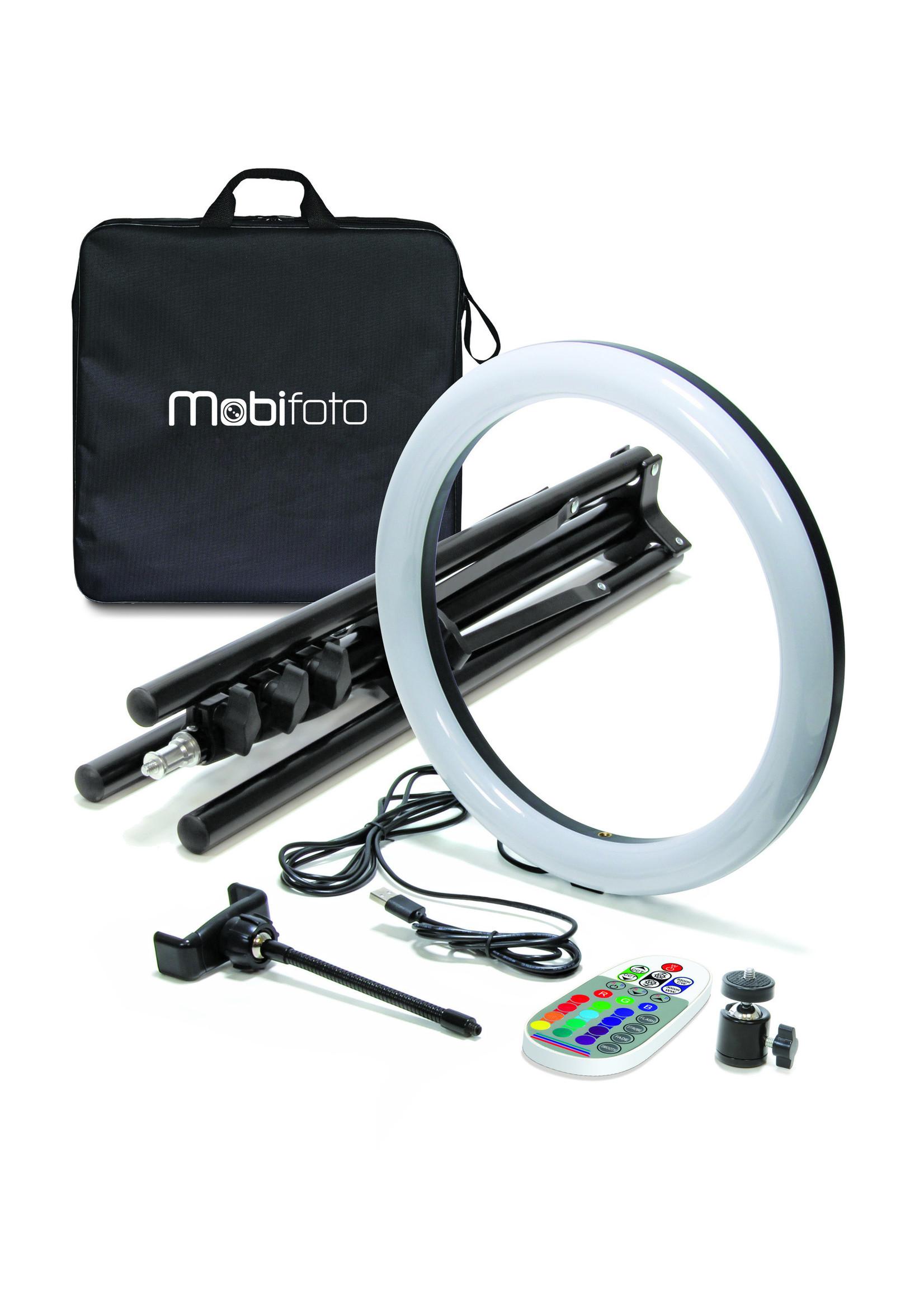 """Mobifoto Mobifoto 12"""" RGB VLOG Ring Light Kit"""