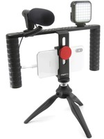 Mobifoto Mobifoto - Vlog Rig with 2 Handles, Light and Microphone