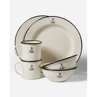 Pendleton Camp Enamelware Set