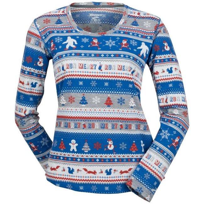 Brooks Women's Ugly Sweater Distance Long Sleeve