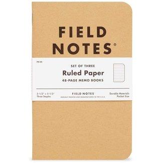 Field Notes Original Kraft 3-Pack Ruled