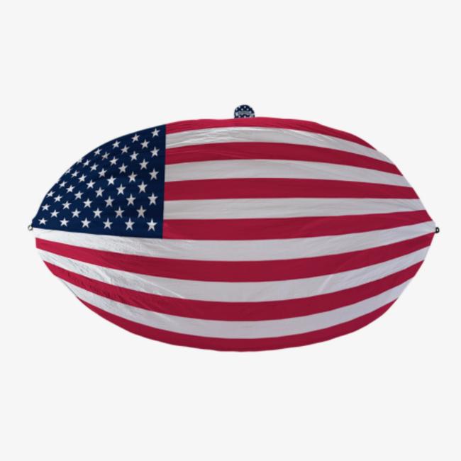 Grand Trunk USA Flag Single Hammock - Made In USA