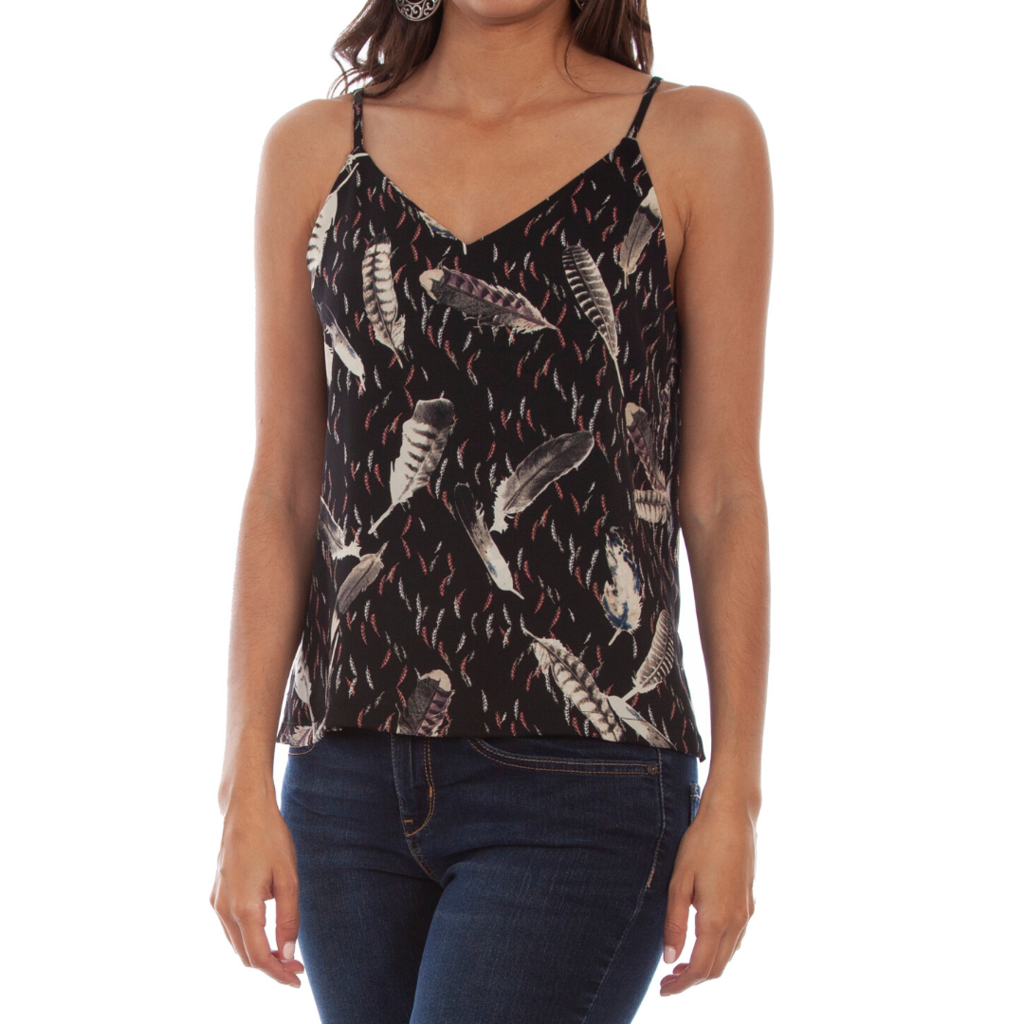 Scully | Floral/Feather Reversible Tank