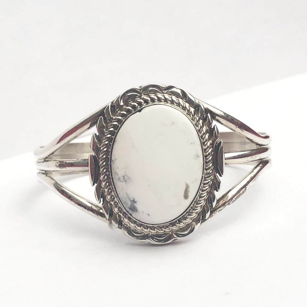 White Buffalo Sterling Cuff