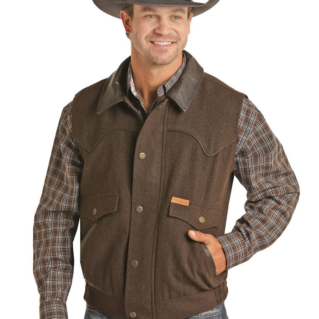 Powder River Outfitters | Heather Solid Vest