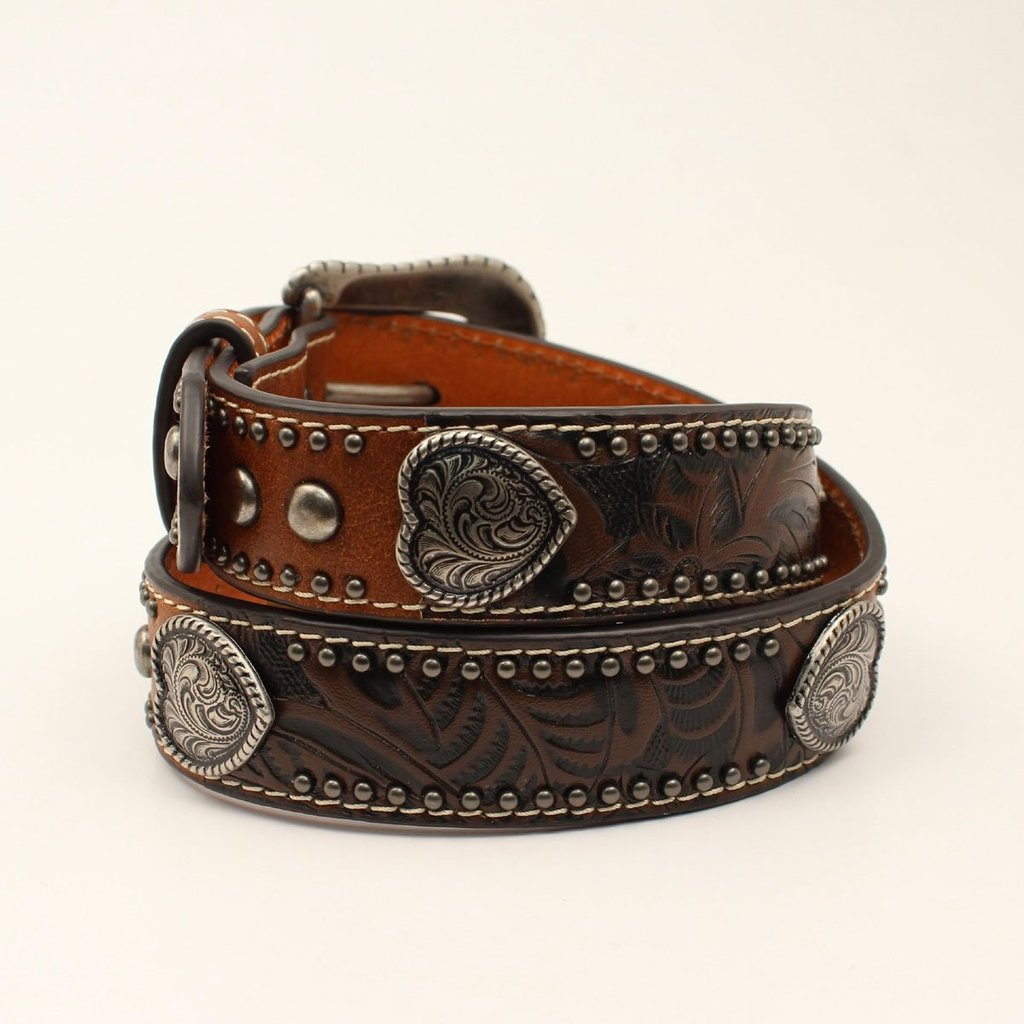 Ariat | Kids Leather Belt w/ Hearts