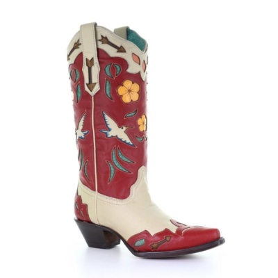 Corral Red Bird Boots