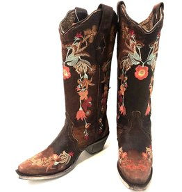 Corral   Floral Embroidered Lamb Leather Boots