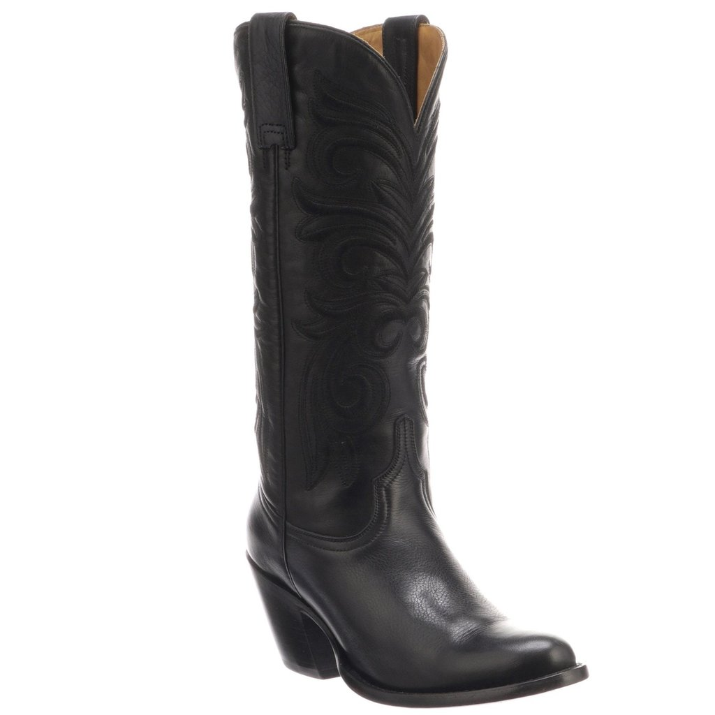 Lucchese Lucchese Black Embroidered Boot