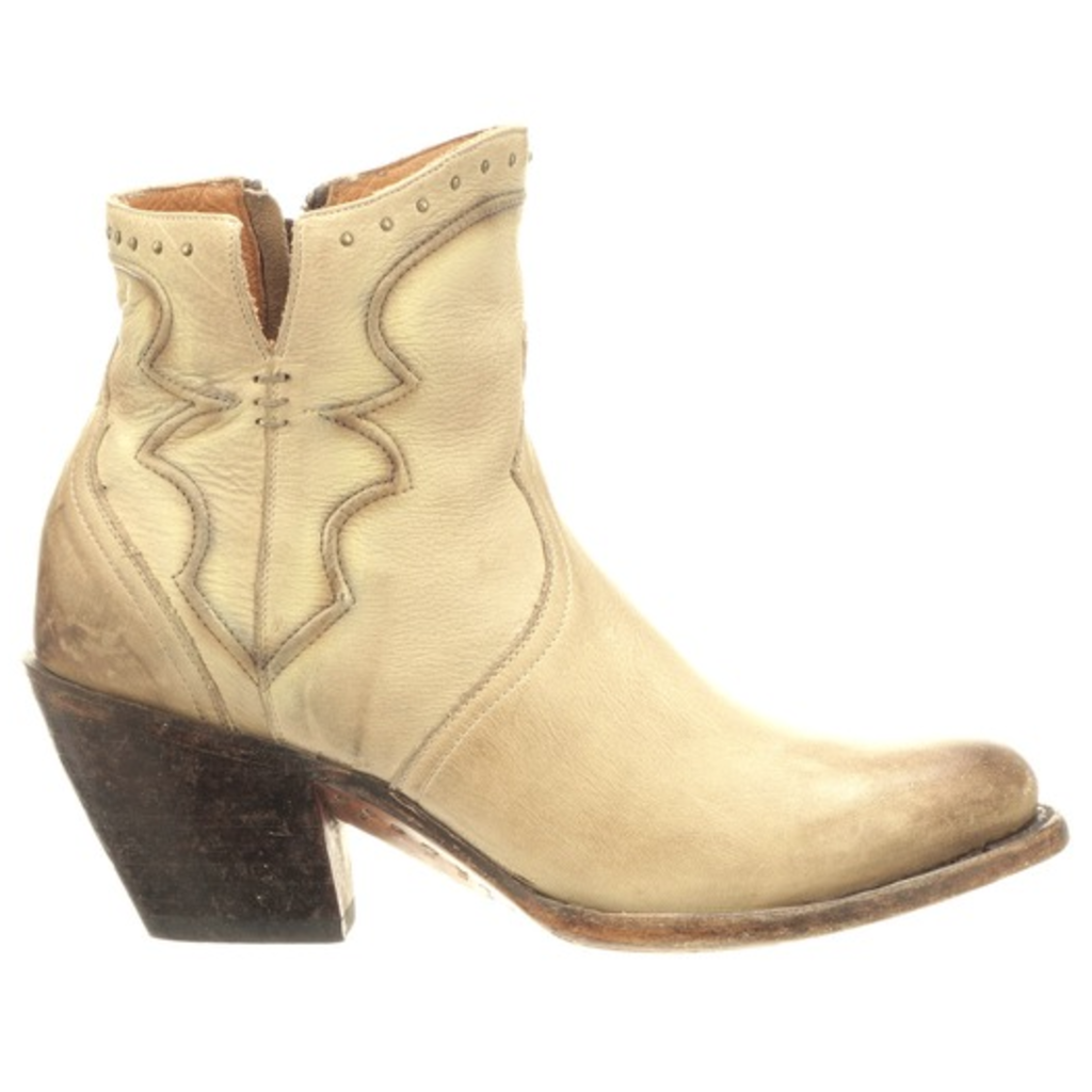 Lucchese Lucchese Bone Distressed Bootie