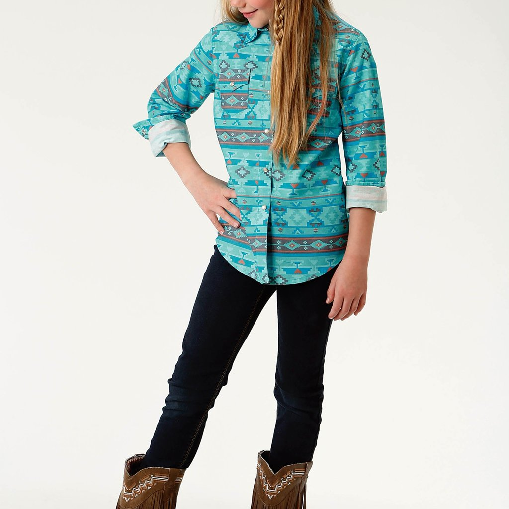Blue Horizon Aztec Top
