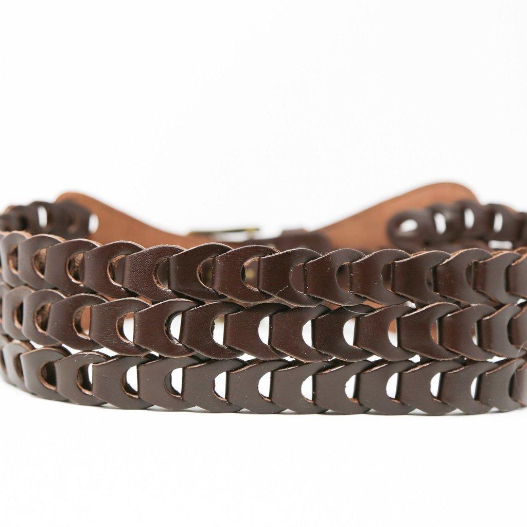 Ansaldo Imports | Braided Brown Belt