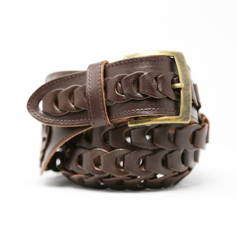 Ansaldo Imports | Braided Brown Belt