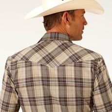 Roper | Brown + Tan Plaid Shirt