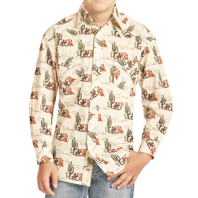 Panhandle   Kid's Cactus Snap Shirt